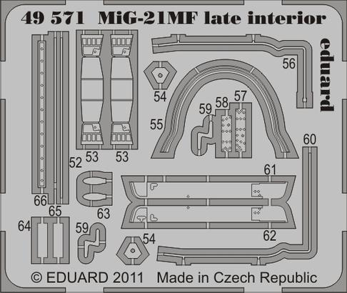 MiG-21MF late interior S.A. 1/48  - 2