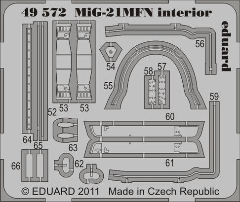 MiG-21MFN interiér S.A. 1/48  - 2
