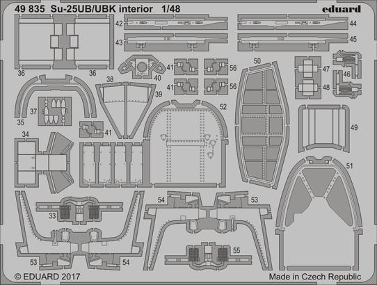 Su-25UB/UBK interiér 1/48  - 2
