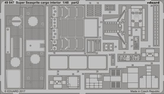 Super Seasprite интерьер грузового отсека 1/48  - 2