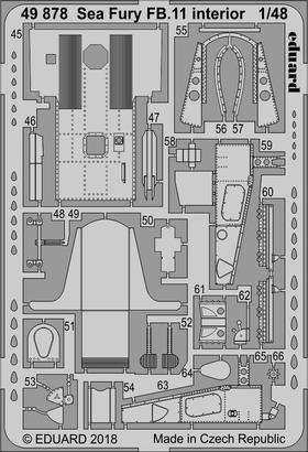 Sea Fury FB.11 interior 1/48  - 2