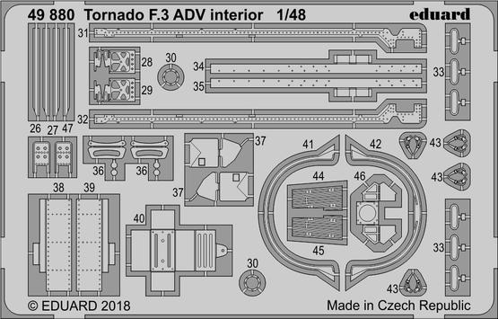 Tornado F.3 ADV interior 1/48  - 2