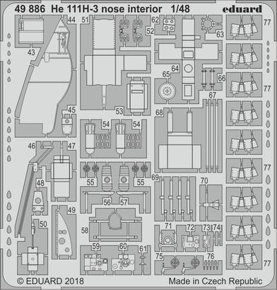 He 111H-3 nose interior 1/48  - 2