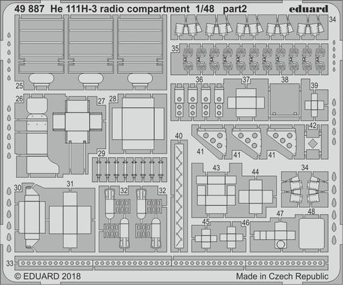 He 111H-3 radio compartment 1/48  - 2