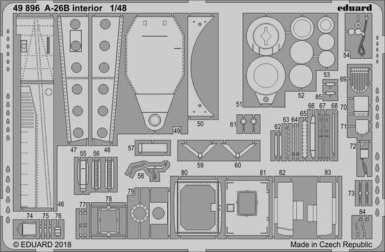 A-26B interiér 1/48  - 2