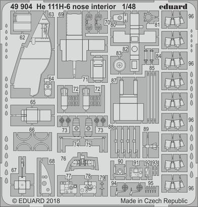 He 111H-6 nose interior 1/48  - 2