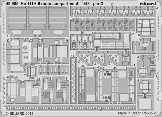 He 111H-6 radio compartment 1/48  - 2
