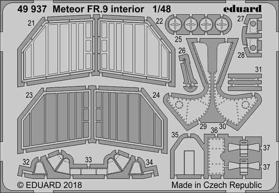 Meteor FR.9 interior 1/48  - 2