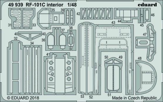 RF-101C интерьер 1/48  - 2