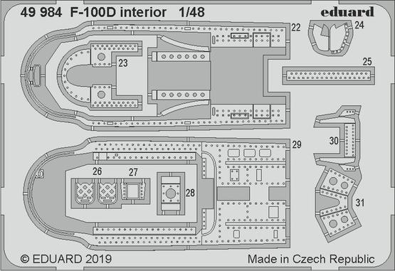 F-100D interior 1/48  - 2