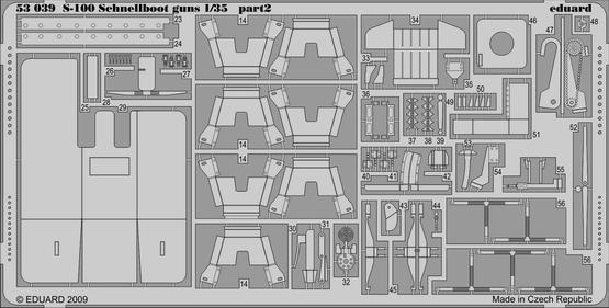 S-100 Schnellboot výzbroj 1/35  - 2
