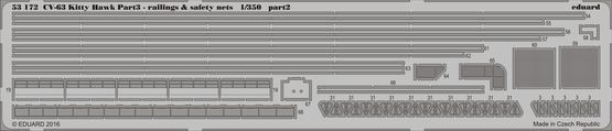 CV-63 Kitty Hawk pt.3 - railings & safety nets 1/350  - 2
