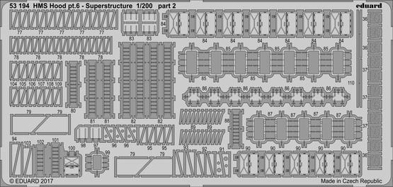 HMS Hood část 6 - hlavní nástavba 1/200  - 2