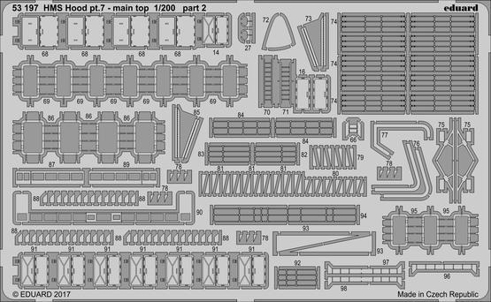 HMS Hood pt. 7 main top 1/200  - 2