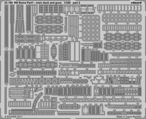 RN Roma pt.1 main deck and guns 1/350  - 2