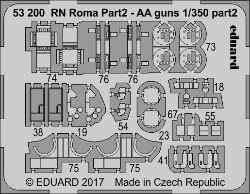 RN Roma část 2 - protiletadlové kanony 1/350  - 2