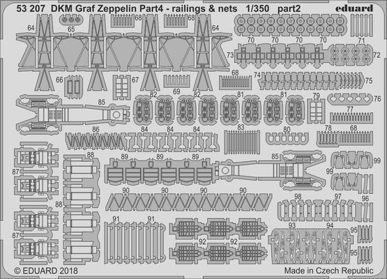DKM Graf Zeppelin railings & nets  pt.4 1/350  - 2