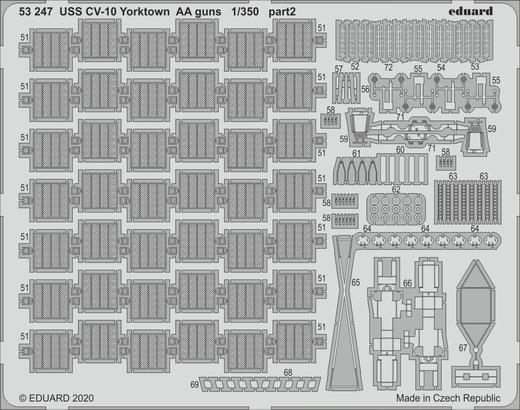 USS CV-10 Yorktown AA guns 1/350  - 2