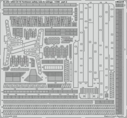 USS CV-10 Yorktown safety nets & railings 1/350  - 2
