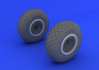 B-17 wheels  1/32 1/32 - 2/4