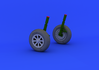F4U-1 wheels 1/32 - 2/5