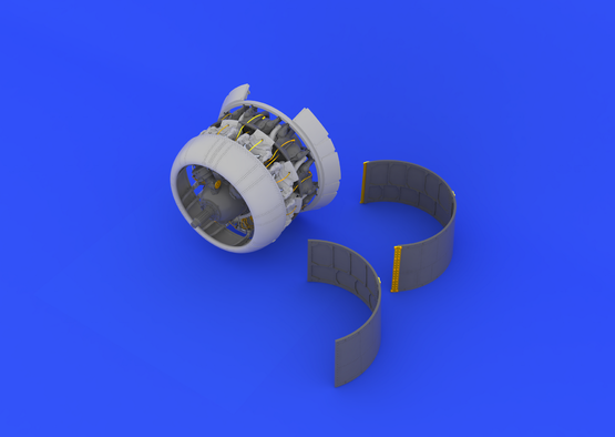 F4U-1 двигатель 1/32  - 2