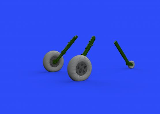 Spitfire Mk.IX wheels - 5 spoke 1/32  - 2