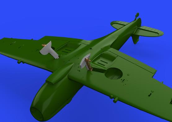 Spitfire Mk.IXc undercarriage legs BRONZE 1/32  - 2