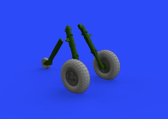 Spitfire Mk.IX wheels 5spoke w/pattern 1/32  - 2