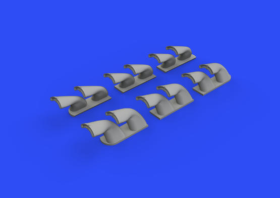 P-40 exhaust stacks fishtail 1/32  - 2