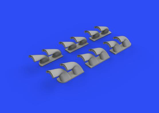 P-40 výfuky fishtail 1/32  - 2