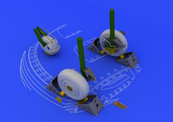 Su-27 wheels 1/48  - 2