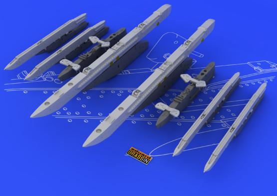 Su-25K wing pylons 1/48  - 2