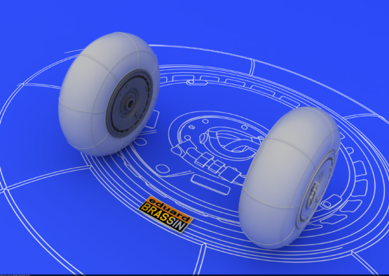 Bf 110 E/F/G main undercarriage wheels 1/48  - 2