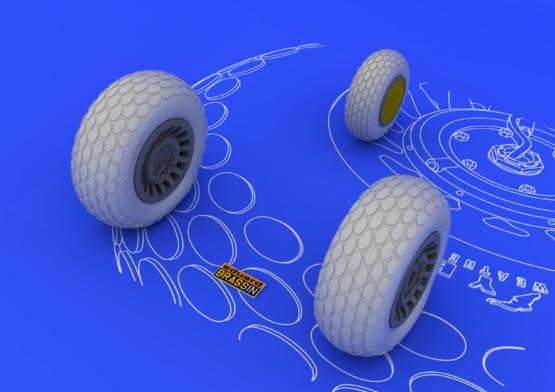 P-61 wheels 1/48  - 2