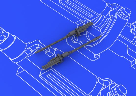 MG 17 German WWII guns 1/48  - 2