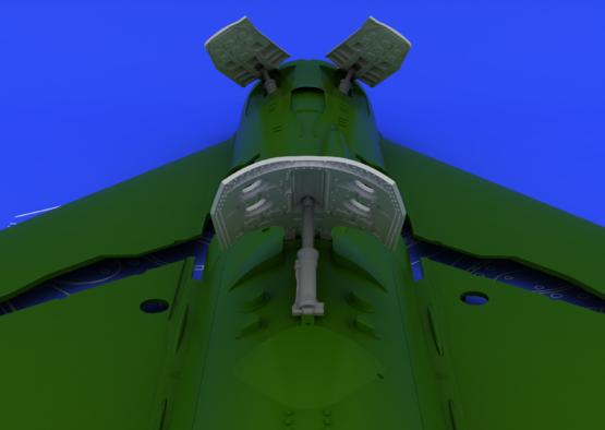 MiG-21 brzdící štíty pozdní verze 1/48  - 2