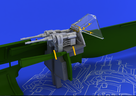 MG 131 mount for Fw 190D-9 1/48  - 2