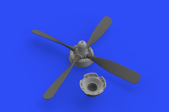 P-51D Hamilton Standard uncuffed propeller 1/48  - 2