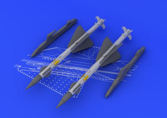 R-23R / AA-7 Apex (2pcs) 1/48  - 2