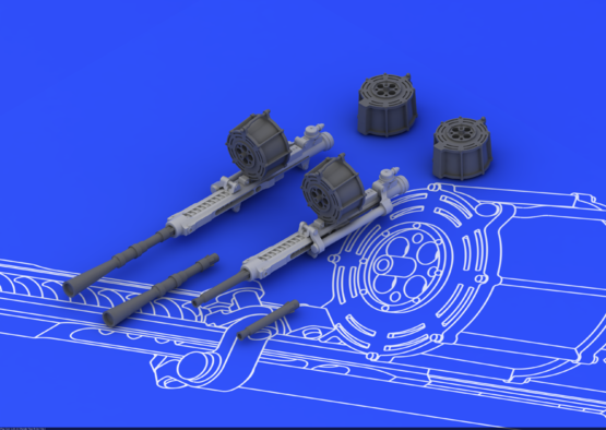 MG FF gun 1/48  - 2
