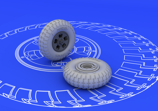 Spitfire wheels - 5 spoke 1/48  - 2