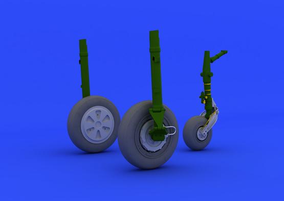 МиГ-21ПФМ колеса 1/48  - 2