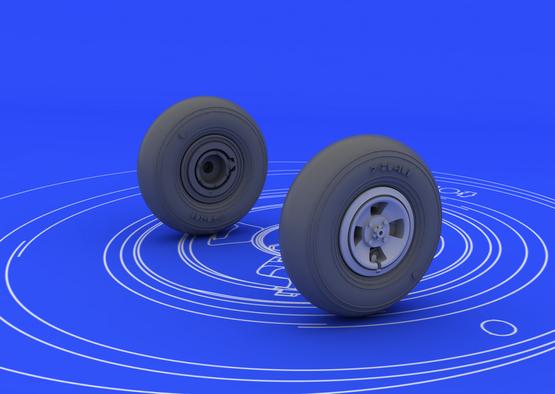 Spitfire колеса - 4-спицевые 1/48  - 2