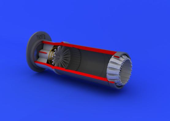 MiG-21PF/PFM exhaust nozzle 1/48  - 2