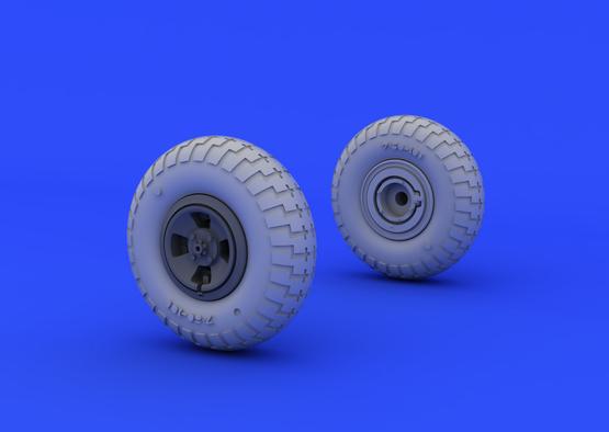 Spitfire wheels - 4 spoke w/pattern 1/48  - 2
