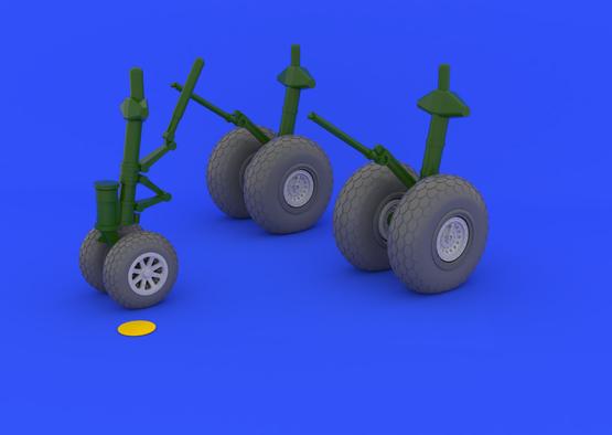 B-29 wheels 1/48  - 2