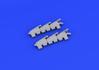 Spitfire Mk.V exhaust stacks fishtail 1/48 - 2/4