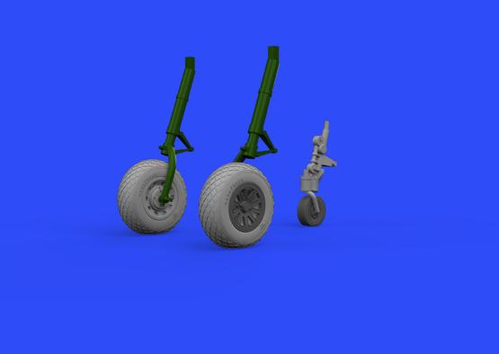 P-51D wheels 1/48  - 2