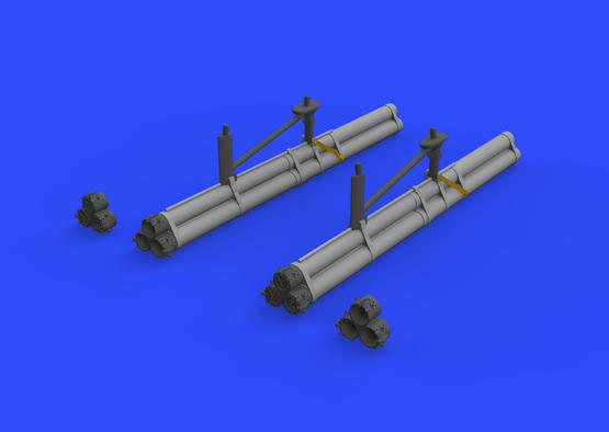 P-51D bazooka rocket launchers 1/48  - 2